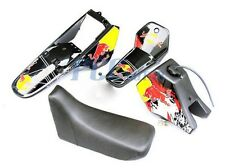 Yamaha PW80 PW COYOTE 80 TANK SEAT PLASTIC + DECALS GRAPHIC KIT BLACK U DE52+