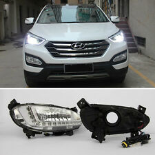 LED Daytime Running Lights DRL Fog Lamp For Hyundai Santa Fe IX45 2013-2016