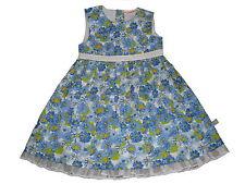 NEU Liegelind zauberhaftes Kleid Gr. 92 blau mit Blumenmotiven !!