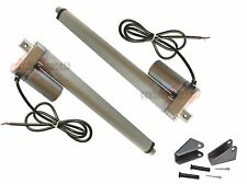 "Linear Actuators w/ Brackets 18"" inch Stroke 12 Volt DC 200 Pound Max Lift 12V"