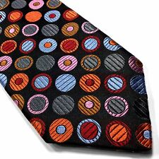 New Robert Talbott Neck-Tie 100% Silk Multi-color Red Blue Metallic Pink Orange