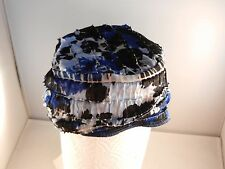 "SPECIALTY HEADWEAR BLUE/BLACK/WHITE HAT ""NEW"" MADE FOR CANCER PATIENTS"