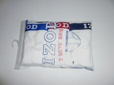 IZOD  WHITE BOYS' BRIEFS SIZE LARGE NEW IN PACKAGE - FREE SHIPPING
