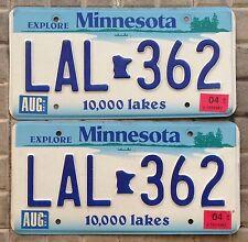 COPPIA TARGHE USA auto MINNESOTA buick tuning raduno ORIGINALI license plate