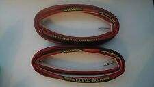 Classic TUFO S3 PRO Black/Red Tubular Tyres 700x21 FCI Edition RARE x2 MINT