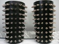 LEATHER SPIKED GAUNTLETS. BLACK METAL (MDLG0006)..... JUDAS ISCARIOT'S