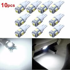 JDM ASTAR 10x Super White T10 5050 5-SMD LED Light Bulb 194 168 2825 175 W5W 192