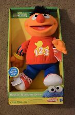 PLAYSKOOL LARGE SESAME STREET ROCKIN NUMBERS ERNIE 123 SINGING SOFT TOY  KIDS