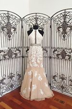 BD67 SHERRI HILL 32227 IVORY NUDE SZ 00 $858 #2494 PROM PAGEANT DRESS GOWN  NWT