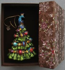 Jay Strongwater Christmas Tree Peacock Ornament Swarovski Elements New In Box