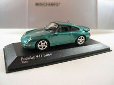 RARE MINICHAMPS PORSCHE 911 993 TURBO TURKIS GREEN METALLIC 1:43 MINT 1/1344