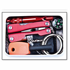 Self Help Outdoor Camping Hiking Sporting Survival Emergency Tools Box Kit Pack