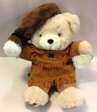 PIONEER DAVEY CROCKETT TEDDY BEAR RACCOON HAT DANIEL BOONE PLUSH DOLL 18""