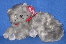 TY BEANI the GRAY / GREY CAT BEANIE BABY - MINT with MINT TAGS
