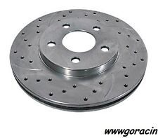 Summit Racing Cross-Drilled/Slotted Brake Rotors,Fits Blazer,S10,Jimmy,Sonoma~