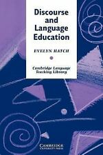 Cambridge Language Teaching Library: Discourse and Language Education by...
