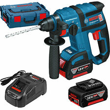 BOSCH Akku-Bohrhammer GBH 18 V-EC mit 2x 6.0 Ah Akku, Ladegerät GAL1880, L-BOXX