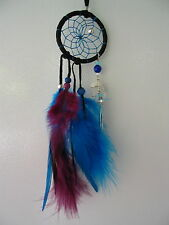 """NEW BEAUTIFUL DREAM CATCHER FIRST NATIONS OJIBWAY MAGICAL  BLACK WITH CRYSTAL 2"""""""