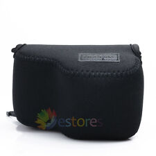 Neoprene Soft Camera Case Pouch Bag for Sony NEX 5T/5R/3N/A5000 16-50mm Lens BK
