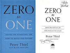 Peter Thiel & Blake Masters~SIGNED 2X & DATED~Zero to One~1st/1st HC+Photos!