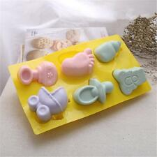 3D Baby Shower Silicone Fondant Cake Chocolate Mould Baking Ice Jelly Mold Tools