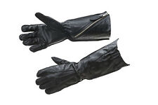 WW2 RAF flying gloves pattern 41 black leather - repro - large