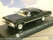 "GREENLIGHT 1/43 1967 CHEVROLET CHEVY IMPALA SPORT ""SUPERNATURAL"" KANSAS PLATES"