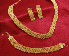 Ethnic Traditional Indian Women 18k Gold Plated Necklace Set Bollywood Jewelry