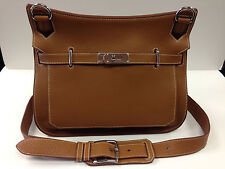 Authentic Hermes Jypsiere 34cm Gold Togo Cross Body Shoulder Bag Messenger