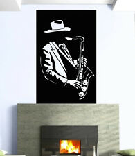 Wall Stickers Vinyl Decal Music Blues Jazz Musician Saxophone Sound Hat ig182