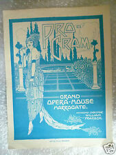 1928 Grand Opera House Programme SEVEN KEYS TO BALDPATE- G M Cohan,June Harris