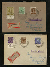 Germany  2  registered covers  number stamps registered      MS1015