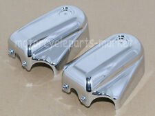 Chrome Phantom Bar Shield Rear Axle Covers For Softail Deluxe FLSTN 08-16 FXSTB