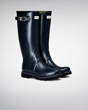 Hunter Wellington Boots Wellies Mens Balmoral II Navy Size 11 Eu 45/46 New