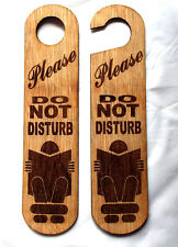 Do not disturb sign NEW LARGER SIZE 200mmX50mm   PlyWood #02