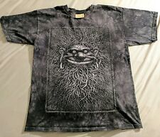 Awesome The Mountain Tie Dye Troll Face T-Shirt Gray M Medium Hippy USA