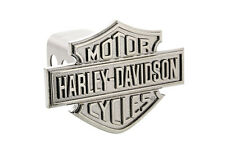 Harley-Davidson Trailer Tow Hitch Cover Plug Dark Nickel Coated Bar & Shield