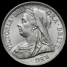 1901 Queen Victoria Veiled Head Silver Half Crown – AU