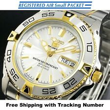 SEIKO 5 SPORTS SNZB24 SNZB24J Automatic Silver Gold Men's Watch Made in Japan