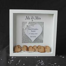 Personalised White Wedding Drop Box Guest Book Keepsake Guestbook Frame Gift