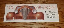 1939 Chevrolet Full Line Sales Brochure 39 Chevy