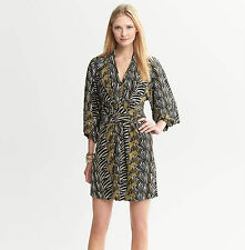 NEW Banana Republic ISSA London Zebra Dress S 4 Career Cocktail Kimono $140