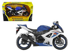 2008 SUZUKI GSX-R1000 BLUE BIKE 1/12 MOTORCYCLE NEW RAY 57003A