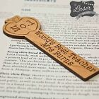 Teacher Gift - Apple Bookmark Personalised End of Term, Thank You Leaving