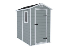 KETER Manor XL 6x4ft Apex Garden Shed.Weatherproof Double Resin Plastic Shed.NEW