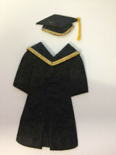 4 BLACK MULBERRY PAPER GRADUATION GOWN & CAP CARD MAKING CRAFT EMBELLISHMENTS