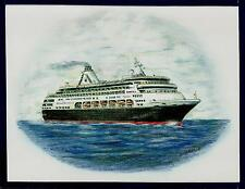 Original Art Work ... ms RYNDAM...cruise ship...HAL ...Starboard side