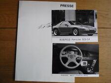 RINSPEED PORSCHE PRESS RELEASE 1987  jm