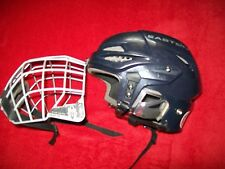 EASTON S 9 HOCKEY HELMET W/ MATCHING STEALTH CAGE MASK NICE SHAPE SZ 6-5/8-7 SM