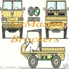 Steyr Puch Haflinger 4x4  - Poster voiture legende auto yougtimer vintage